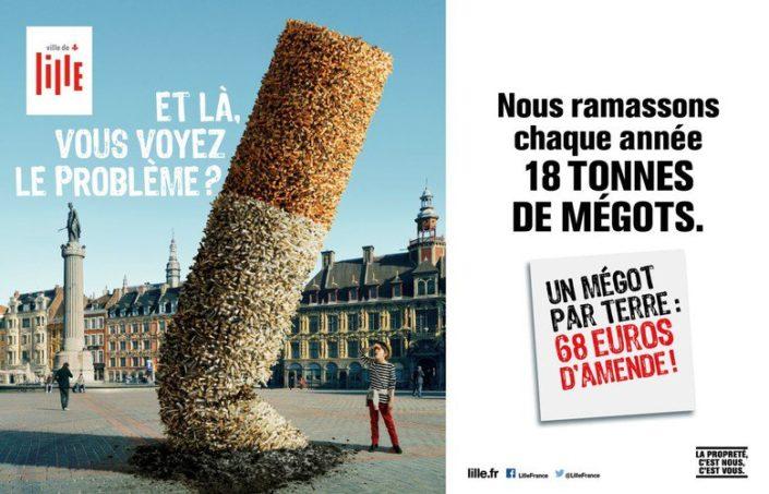 Affiche Anti-tabac-Ville de Lille