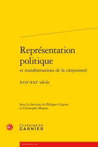 Représentation politique et transformations de la citoyenneté - XVIIe-XXIe siècle