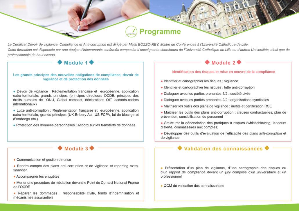 Certificat devoir de vigilance, compliance et anti-corruption