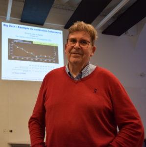 Jacques Printz, en conférence à l'Université catholique de Lille.